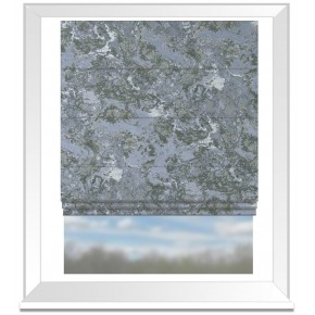Clarke and Clarke Imperiale Marmo Chicory Roman Blind