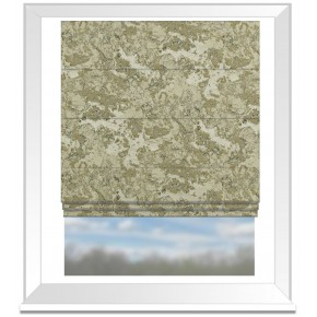 Clarke and Clarke Imperiale Marmo Ivory Roman Blind