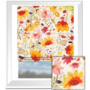 Clarke and Clarke Artbook Martine Linen Multi Roman Blind