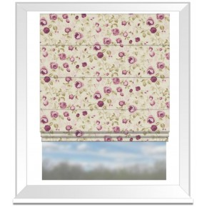 Clarke and Clarke Genevieve Maude Mulberry Roman Blind