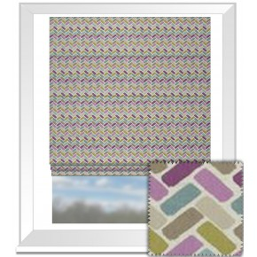 Clarke and Clarke Cariba Maya Heather Roman Blind