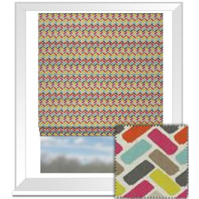 Clarke and Clarke Cariba Maya Summer Roman Blind
