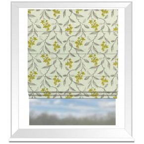 Clarke and Clarke Halcyon Melrose Chartreuse Roman Blind