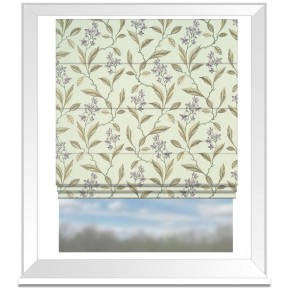 Clarke and Clarke Halcyon Melrose Heather Roman Blind