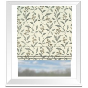 Clarke and Clarke Halcyon Melrose Natural Roman Blind