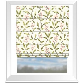 Clarke and Clarke Halcyon Melrose Pink/Apple Roman Blind