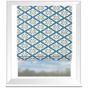 Clarke and Clarke Chateau Michel Aqua Roman Blind