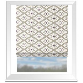 Clarke and Clarke Chateau Michel Linen/Violet Roman Blind