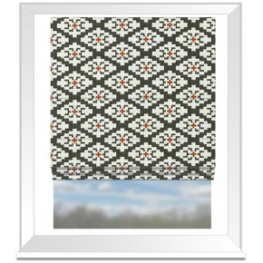 Clarke and Clarke Chateau Michel Noir/Sunset Roman Blind