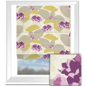 Clarke and Clarke La Vie Monaco Berry Roman Blind