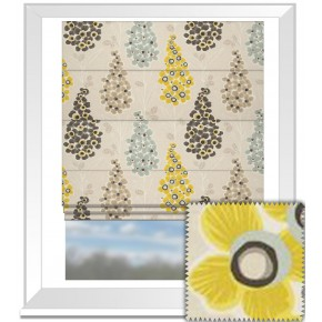 Clarke and Clarke Cariba Mustique Chartreuse Roman Blind