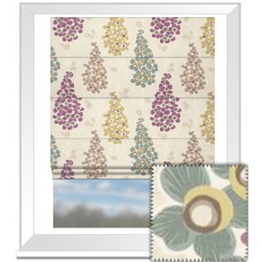 Clarke and Clarke Cariba Mustique Heather Roman Blind