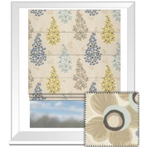 Clarke and Clarke Cariba Mustique Mineral Roman Blind