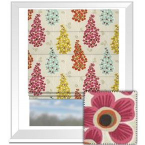 Clarke and Clarke Cariba Mustique Summer Roman Blind