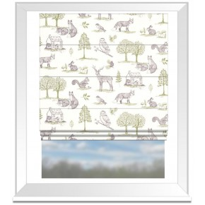 Clarke and Clarke Blighty Newforest Natural Roman Blind