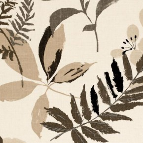 Clarke and Clarke Wild Garden Woodland Charcoal Roman Blind