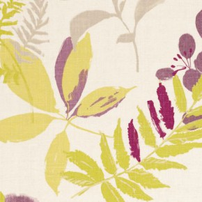 Clarke and Clarke Wild Garden Woodland Heather Roman Blind