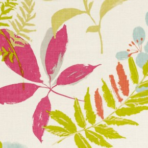 Clarke and Clarke Wild Garden Woodland Raspberry Made to Measure Curtains