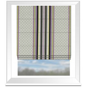Clarke and Clarke Chateau Paradiso Acacia/Violet Roman Blind