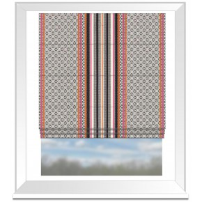 Clarke and Clarke Chateau Paradiso Sunset Roman Blind