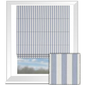 Clarke and Clarke Garden Party Party Stripe Chambray Roman Blind