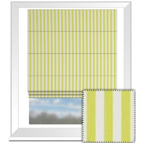 Clarke and Clarke Garden Party Party Stripe Citrus Roman Blind