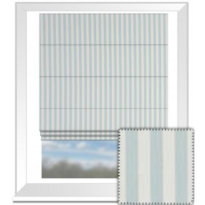 Clarke and Clarke Garden Party Party Stripe Mineral Roman Blind