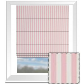 Clarke and Clarke Garden Party Party Stripe Pink Roman Blind