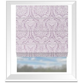 Clarke and Clarke Halcyon Pastiche Heather Roman Blind