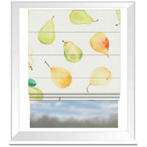 A Village Life  Pears Cream  Roman Blind