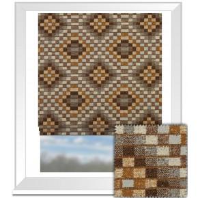 Prestigious Textiles Iona Piccola Umber Roman Blind