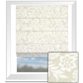 Clarke and Clarke Genevieve Polly Linen Roman Blind