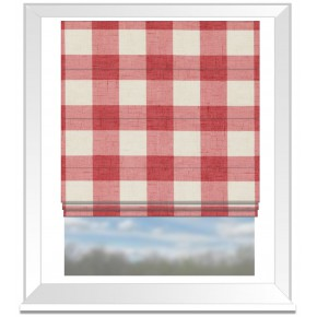 Clarke and Clarke Genevieve Polly OldRose Roman Blind