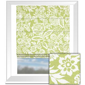 Clarke and Clarke Genevieve Polly Sage Roman Blind