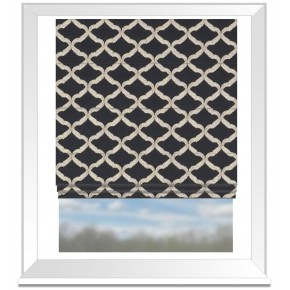 Clarke and Clarke Imperiale Reggio Ebony Roman Blind