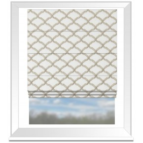 Clarke and Clarke Imperiale Reggio Ivory Roman Blind