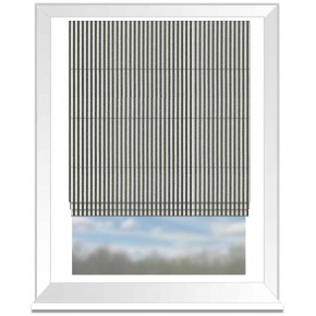 Clarke and Clarke Glenmore Rowan Charcoal Roman Blind