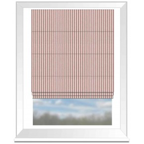 Clarke and Clarke Glenmore Rowan Red Roman Blind