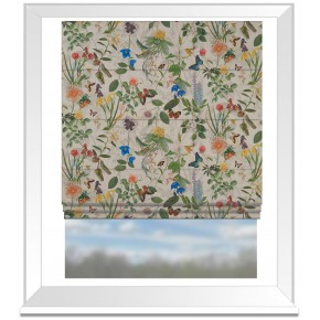 Country Garden Secret Garden Linen  Roman Blind