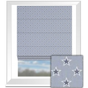 Clarke and Clarke Garden Party Shooting Stars Chambray Roman Blind