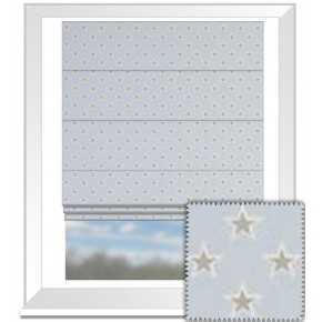 Clarke and Clarke Garden Party Shooting Stars Sky Roman Blind