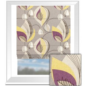 Clarke and Clarke Festival Starlight Elderberry Roman Blind