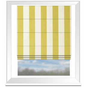 Clarke and Clarke Chateau St James Stripe Acacia Roman Blind