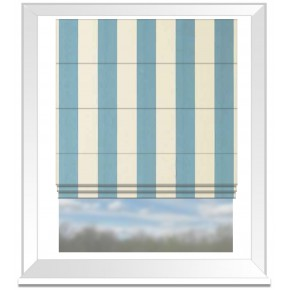 Clarke and Clarke Chateau St James Stripe Aqua Roman Blind