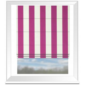 Clarke and Clarke Chateau St James Stripe Fuchsia Roman Blind