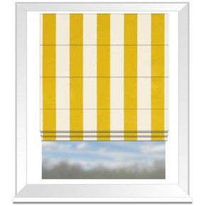 Clarke and Clarke Chateau St James Stripe Gold Roman Blind