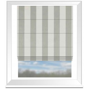Clarke and Clarke Chateau St James Stripe Linen Roman Blind