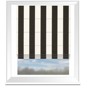 Clarke and Clarke Chateau St James Stripe Noir Roman Blind