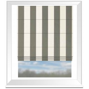 Clarke and Clarke Chateau St James Stripe Smoke Roman Blind