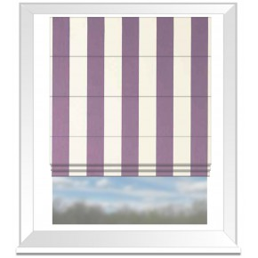 Clarke and Clarke Chateau St James Stripe Violet Roman Blind
